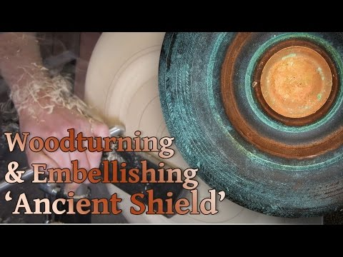 #76 Wood Turning and Embellishing an Ancient Shield with Metal Reactive Paints