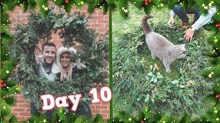 DIY GIANT CHRISTMAS WREATH!   VLOGMAS DAY 10 -  CHRIS & EVE