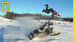 スノーモービルでジャンプの科学 |バ科学