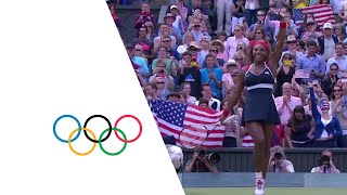 Serena Williams Wins Women's Singles Gold - London 2012 Olympics(Check out the brandnew Olympic Channel: http://go.olympic.org/watch?p=yt Full replay as the USA's Serena Williams defeats Maria Sharapova in stunning ..., 2012-08-04T16:52:54.000Z)
