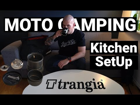 Motorcycle Camping Gear Kitchen Setup 2019 - Trangia 27