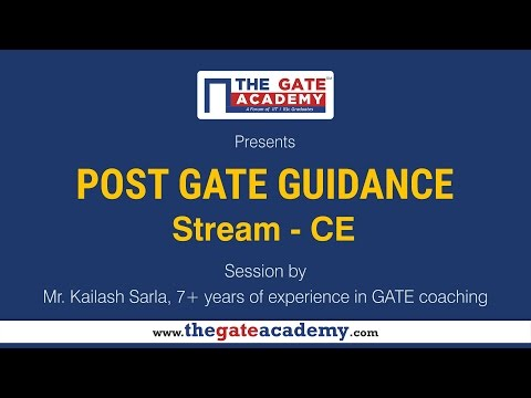 Civil Engineering  | Post GATE Guidance for M.Tech in IIT/NIT & PSU jobs
