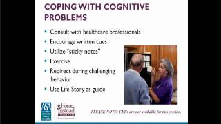Caring for someone with alzheimer's - family caregiver webinar series
