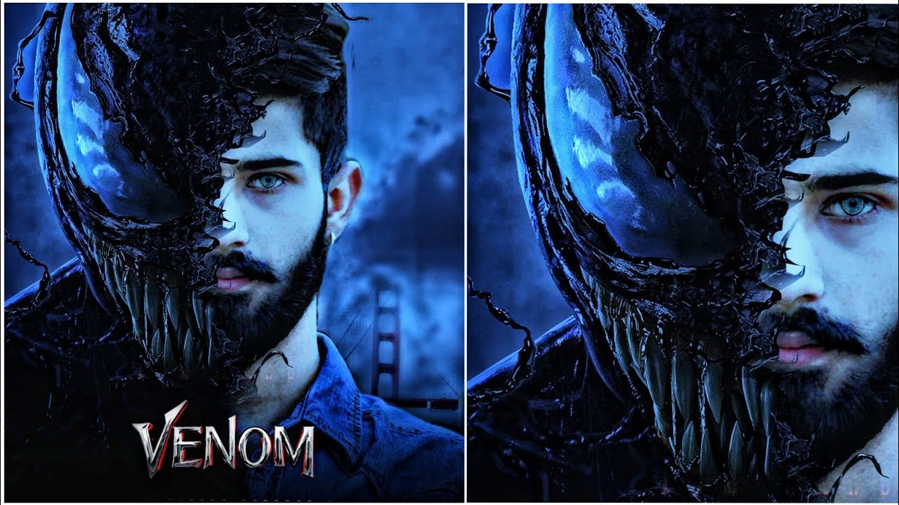 how to edit venom movie poster design with picsart editing