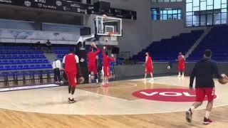 Trening košarkaša Crvene zvezde pred četvrti okršaj u Podgorici