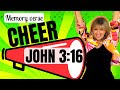 John 3:16 BIBLE MEMORY VERSE CHEER | Children's Ministry | WRIGHT IDEAS WITH SUSAN