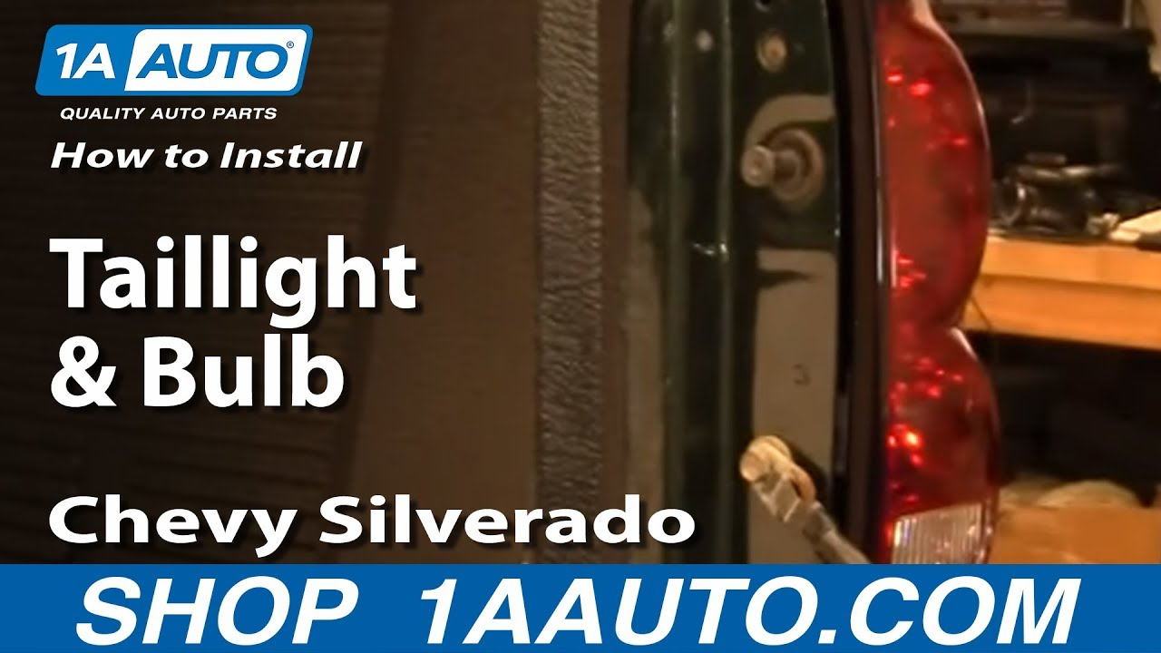 How To Install Replace Taillight and Bulb Chevy Silverado 0407 1AAuto  YouTube
