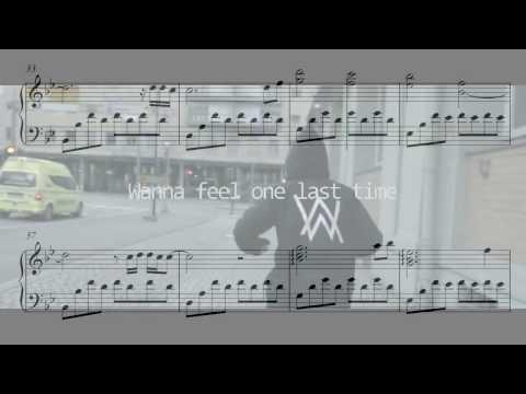 ALONE (Restrung) - Alan Walker - FREE piano sheet music