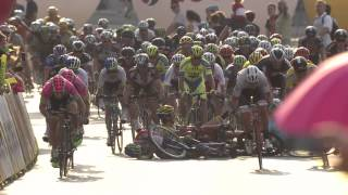 Crash on stage 2 of 2015 Tour de Pologne