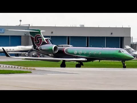 Sexy Jet Gulfstream G550 (GLF5) departing Montreal (YUL/CYUL)