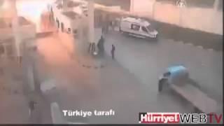 Взрыв на границе Турции и Сирии.