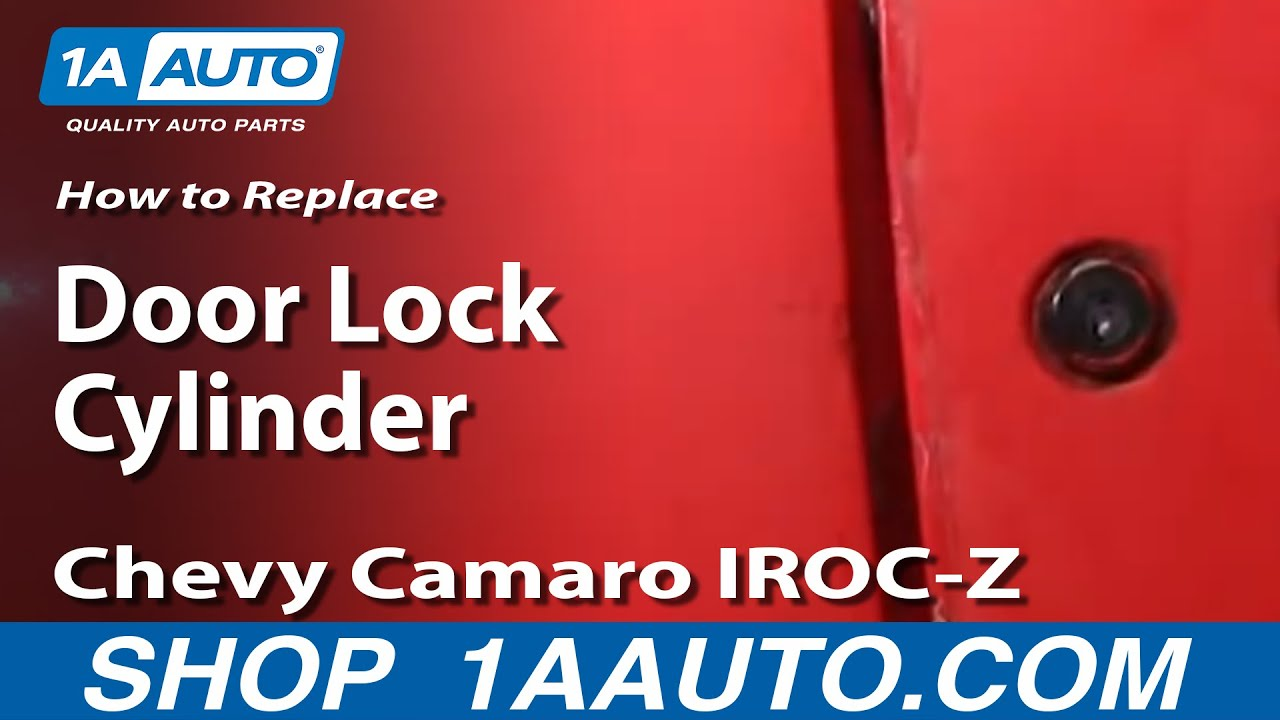 how to install replace door key lock cylinder 82 92 chevy camaro iroc z pontiac firebird 1aauto com [ 1280 x 720 Pixel ]