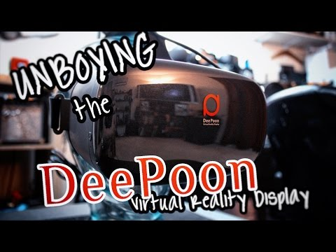 UNBOXING THE DEEPOON E2 VIRTUAL REALITY DISPLAY! (Oculus Home & SteamVR)