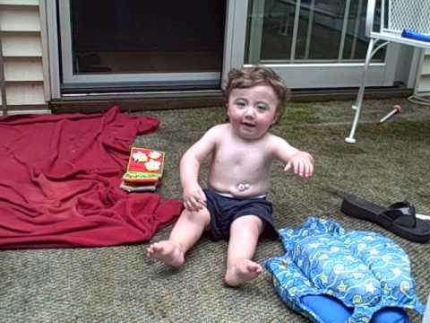 Joe playing on the deck #2