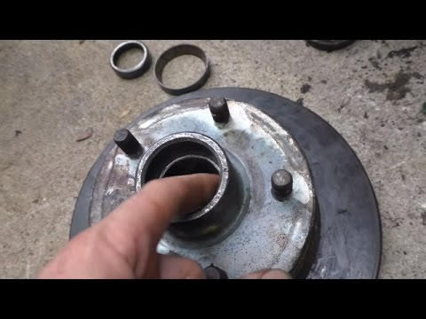 Changing trailer wheel bearings