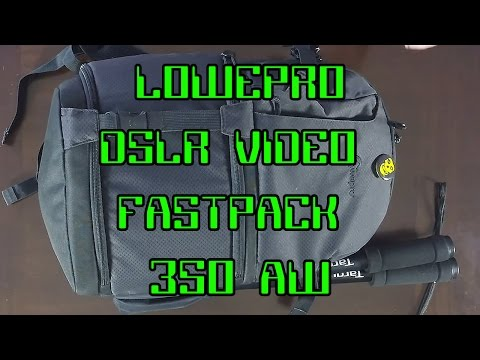 Lowepro DSLR Video Fastpack 350 AW Review - What's In My Bag?