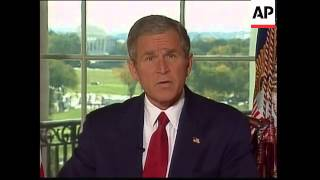Bush address on military action in Afghanistan