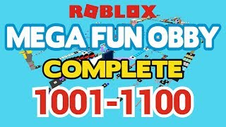 ROBLOX - MEGA FUN OBBY COMPLETED - Stage 1001-1100 (Workthrough)