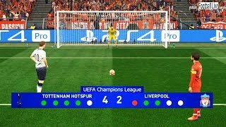 PES 2019 | Tottenham vs Liverpool | Penalty Shootout | Final UEFA Champions League (UCL) | Gameplay