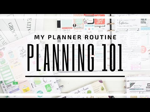 PLANNING 101 - My Planner ROUTINE! | My Complete Guide on How I Plan | At Home With Quita