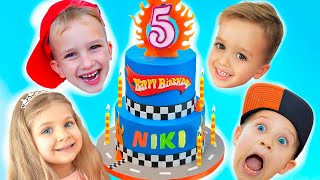 Download lagu Happy Birthday Niki! Kids Birthday party with Vlad, Diana and Roma