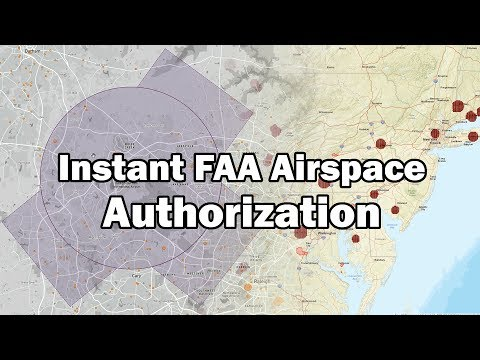 Instant Airspace Authorization for Drones!