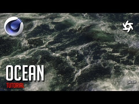 Cinema 4D Tutorial - Realistic Ocean With Foam! (Octane Render)