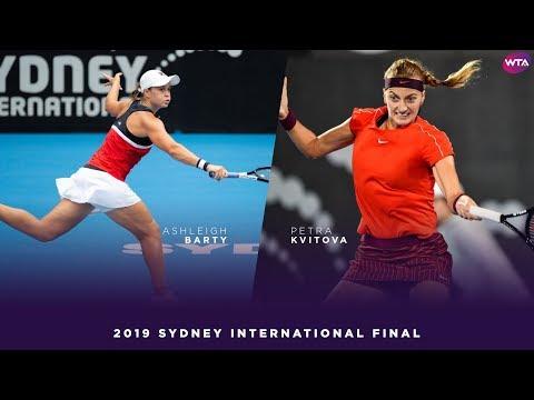 Ashleigh Barty vs. Petra Kvitova | 2019 Sydney International Final | WTA Highlights