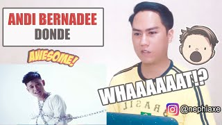 Andi Bernadee - Donde (Official Music Video) | SINGER REACTS