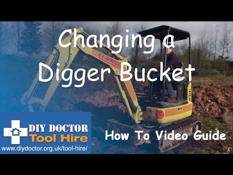 Changing a Digger Bucket