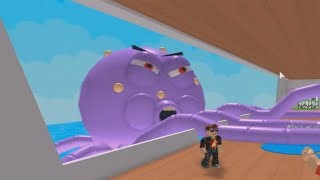 ROBLOX: RUNNING FROM THE GIANT OCTOPUS ON THE SHIP!! (Escape the Cruise Ship Obby!!)