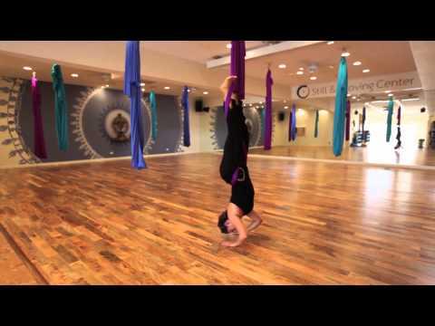Aerial Yoga Intro: Health & Fitness Benefits, Basic Poses @ Still & Moving Center Honolulu Hawaii