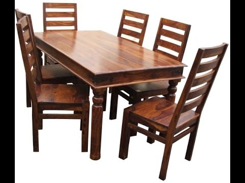 Beautiful Teak Wood Dining Tables Product Demo @ Fab Home Koramangala, Bangalore |  ShoppingAdviser   YouTube