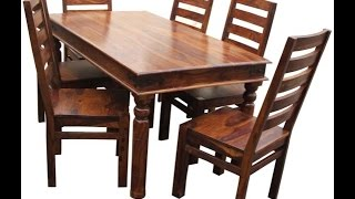 Teak Wood Dining Tables Product Demo @ Fab Home Koramangala, Bangalore | Shoppingadviser