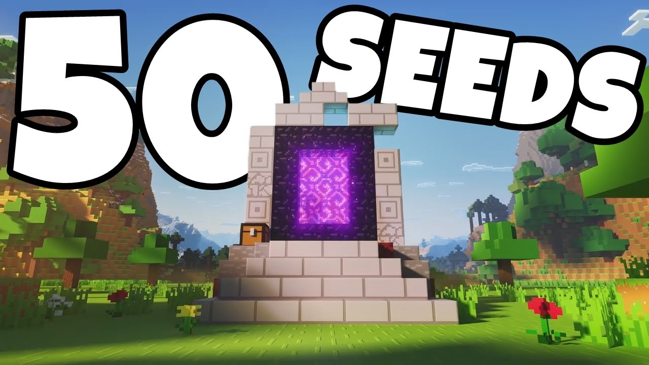 50 Ruined Portal Seeds For The Minecraft Nether Update Minecraft Bedrock Edition 1 16 Seeds Youtube