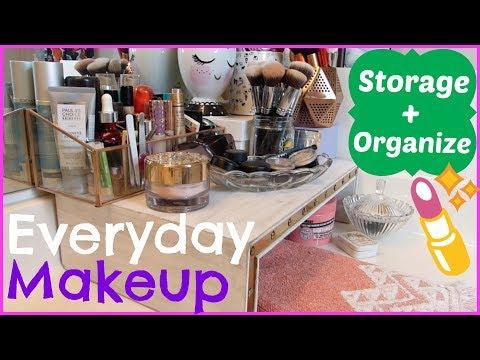 EVERYDAY MAKEUP CORNER!   Makeup Organization & Storage