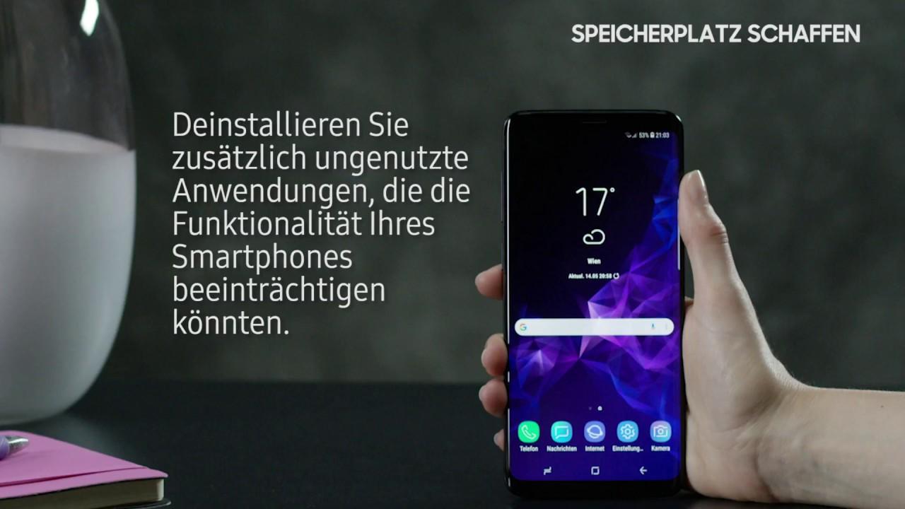 Samsung J5 Sd Karte Als Interner Speicher.Samsung Galaxy S9 S9 So Schaffen Sie Internen Speicherplatz