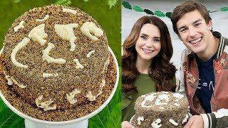 DINOSAUR FOSSIL CAKE ft MatPat! - NERDY NUMMIES