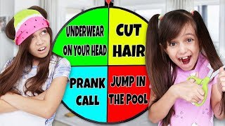 SPIN The MYSTERY WHEEL & DOING Whatever It Lands On! LAST TO CHALLENGE