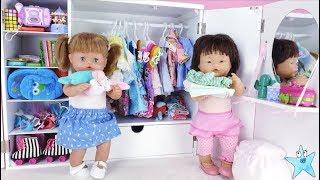 Ani y Ona estrenan más de 100 ACCESORIOS NUEVOS y los coloco en su armario Muñecas Nenuco