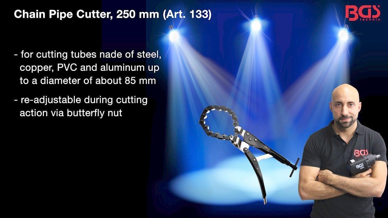 tutorial chain pipe cutter 250 mm art 133