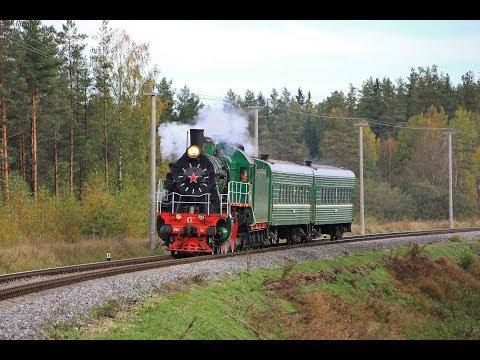 Паровоз Су250-74 с пригородным поездом Бологое - Осташков