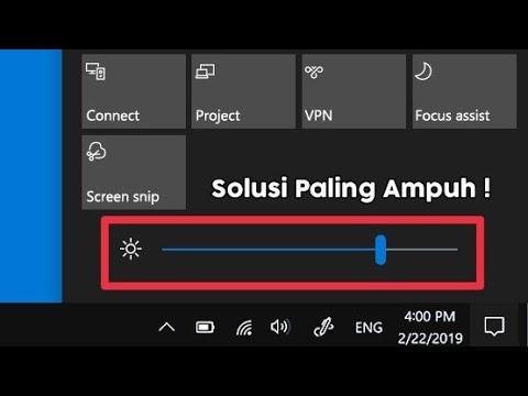 Di Video kali ini, saya akan memberikan tutorial dan cara mengatasi kecerahan pada layar laptop atau.
