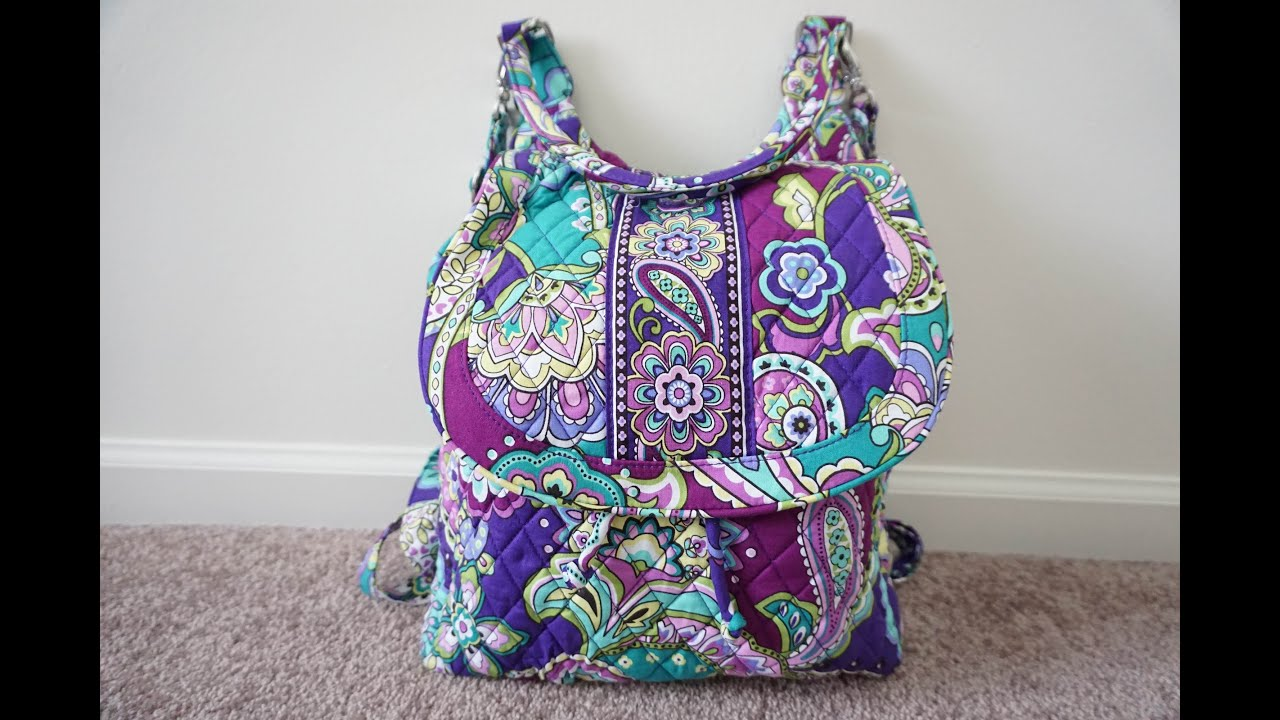 Review Packing Video Vera Bradley Backpack Tote Packed With Ju Be