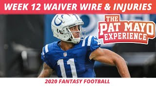 2020 Week 12 Waiver Wire Pickup Rankings | NFL Injuries | 2020 Fantasy Football Adds