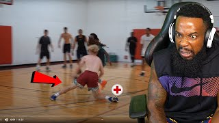 EWW!! TJass Almost BROKE My LEG Then HEATED UP! 5v5 Basketball