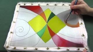 видео батик краска для ткани