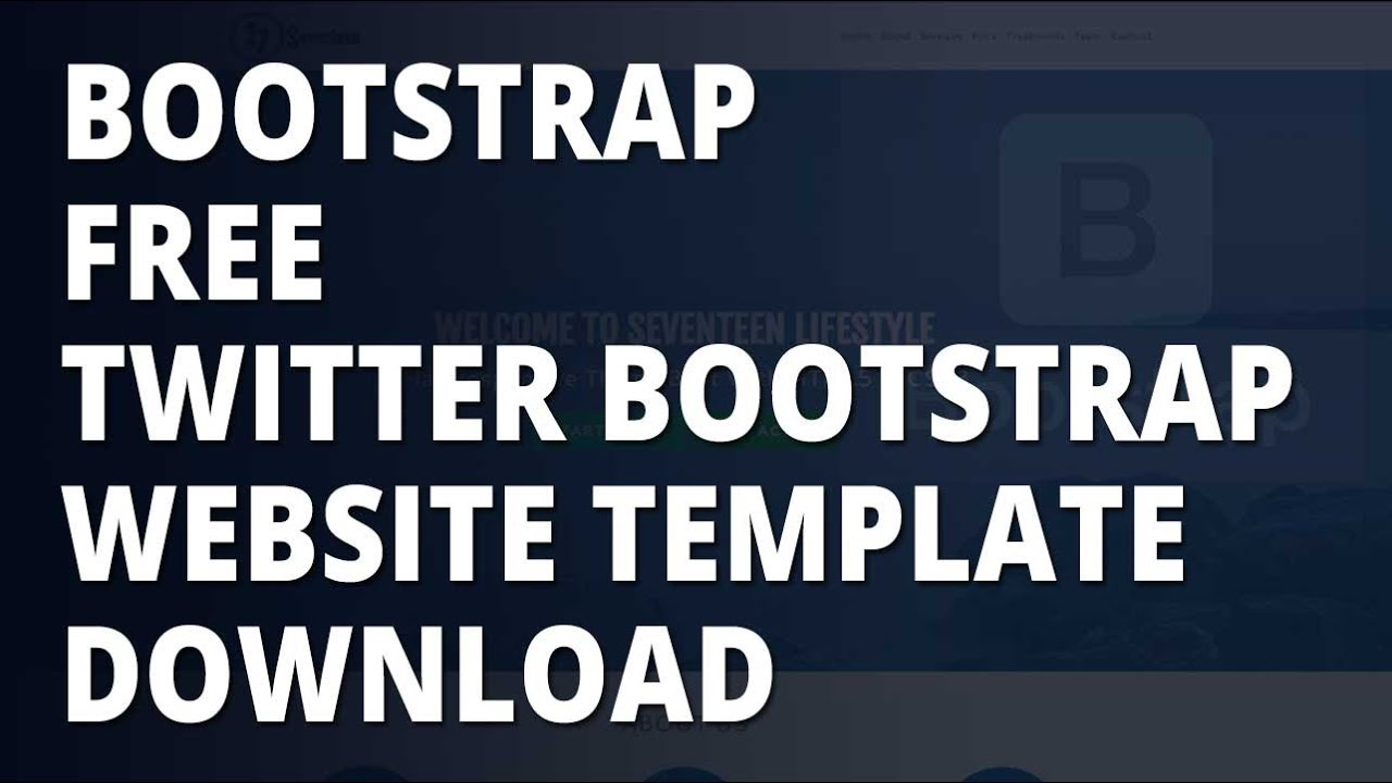 Bootstrap free twitter bootstrap website template download youtube bootstrap free twitter bootstrap website template download pronofoot35fo Gallery