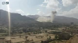 بالفيديو  بعشرات الغارات.. التحالف العربي يطارد الحوثيين بصنعاء