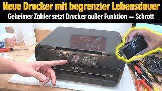 Neue Tintenstrahldrucker - Geheimer Zähler macht Drucker zu Schrott - geplante Obsoleszenz